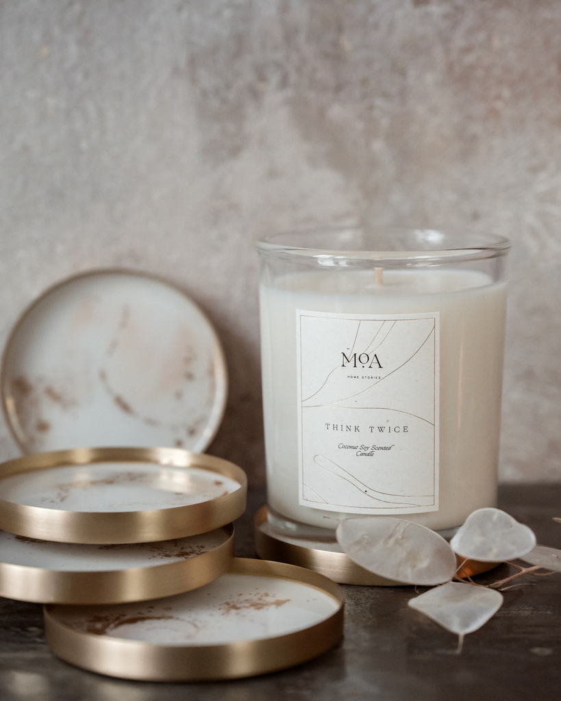 Naturalna świeca zapachowa THINK TWICE (ZESTAW BEZ WIECZKA)