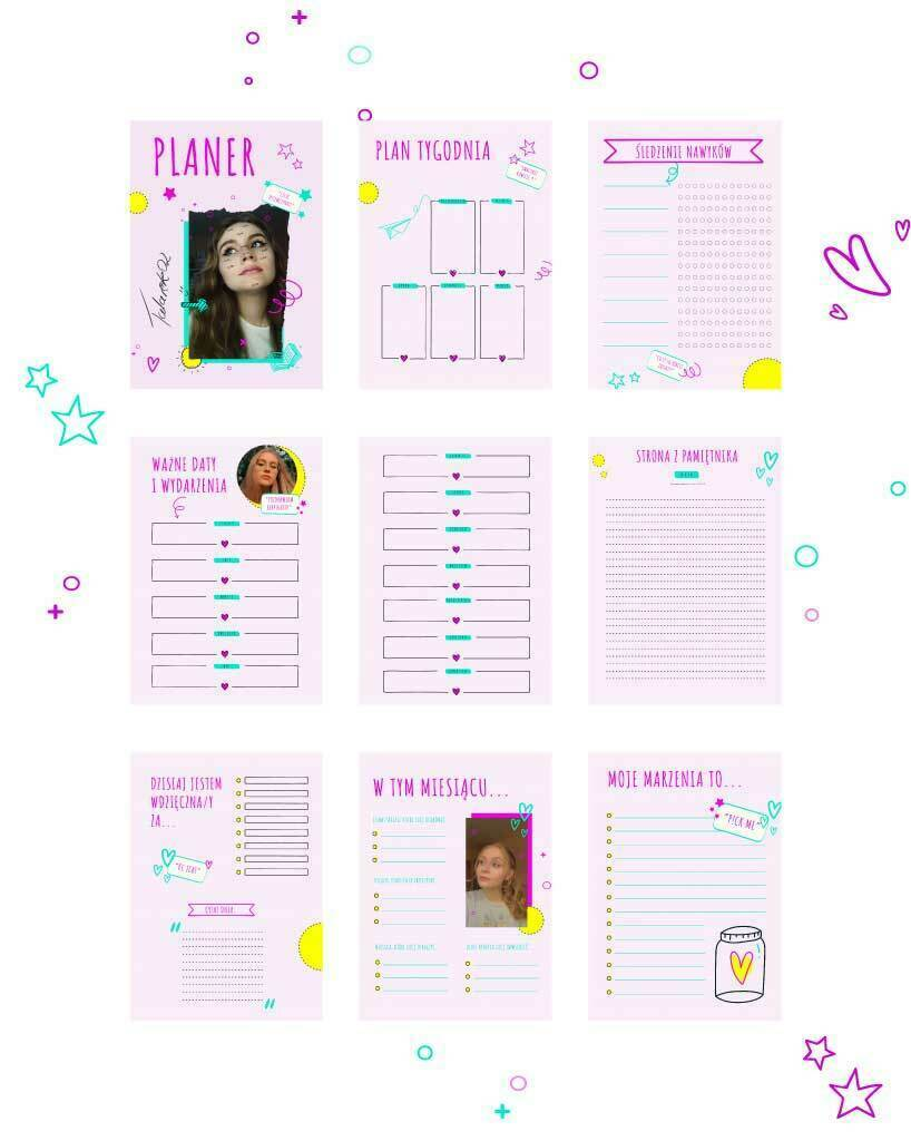 Pakiet Back to SHOOL - planer + plan lekcji od Talarek 02