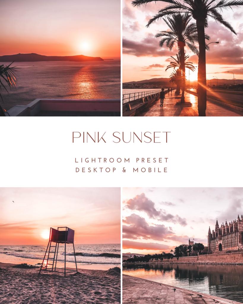 Pink Sunset - Lightroom Desktop & Mobile Preset